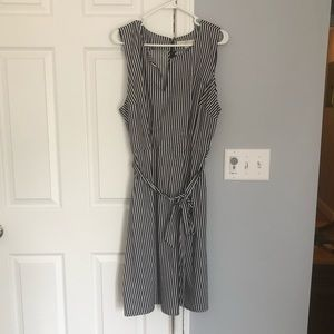 NWT Navy and white striped loft dress